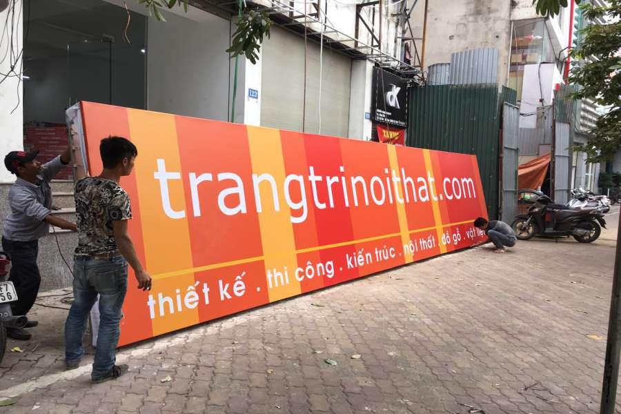 Thi công biển 3M in bạt cho một công ty thiết kế nội thất tại Xã Đàn