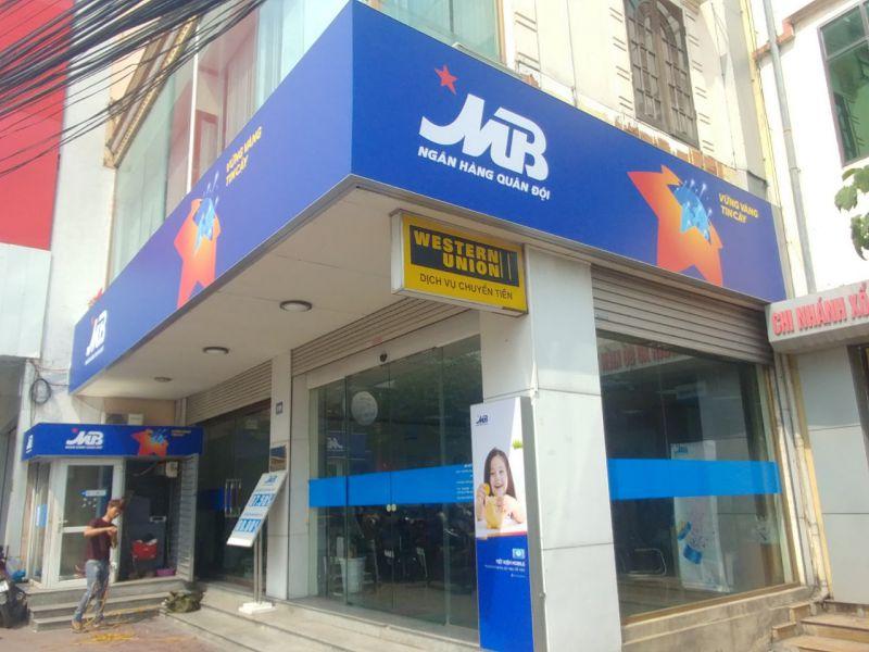 Thi công biển 3M xuyên sáng ngân hàng MB Bank - chi nhánh Mạo Khê, Quảng Ninh