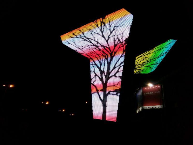 Thi công biển điện tử đèn LED cổng chào KĐT Gamuda