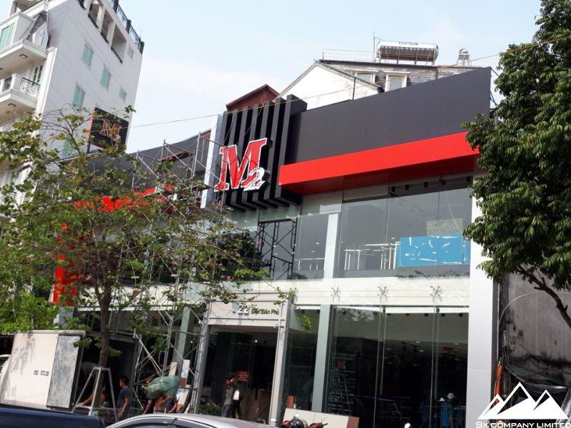 Biển quảng cáo mặt tiền shop M2 sau khi hoàn thiện