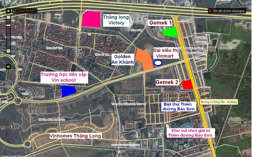 Trường liên cấp Vinschool nằm trong tổ hợp khu đô thị, trung tâm thương mại sầm uất nhất tại Nam An Khánh