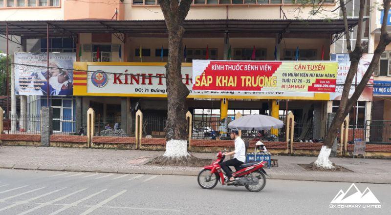 Công trình kính thuốc bệnh viện tại Bắc Giang do Quảng cáo Hùng Sơn thực hiện